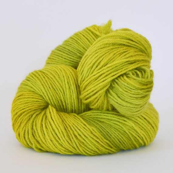 CHARTREUSE ... BFL DK, hand dyed yarn