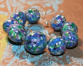 Polymer Clay Bead Set of 9 - Jumble