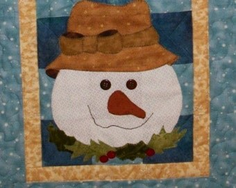 Sammi Snowman Table Runner PDF Pattern from Quilt Doodle Designs