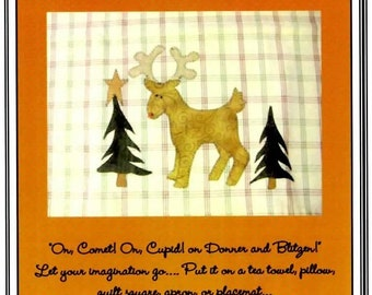 Santa's Little Reindeer Applique Pattern
