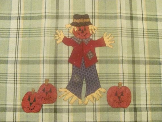 Scarecrow Applique  Pattern for Tea Towel by Quilt Doodle Designs