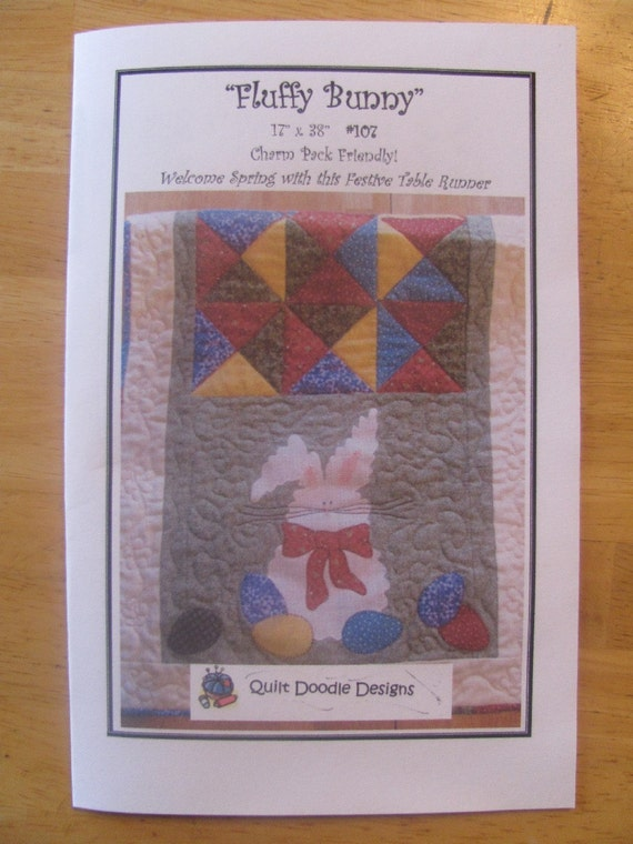 Fluffy Bunny Table Runner Pdf Pattern From Quilt Doodle