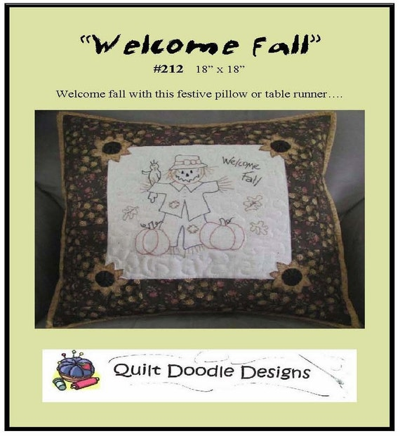 Welcome Fall Packaged Pattern from Quilt Doodle Designs