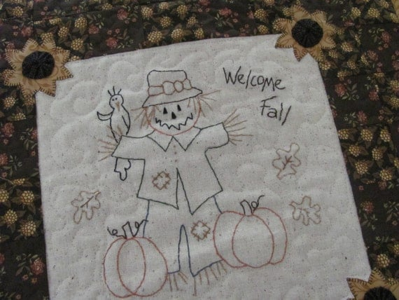 Welcome Fall PDF Pattern from Quilt Doodle Designs