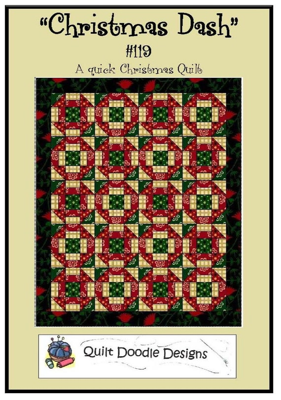 Christmas Dash Quilt  Pattern from Quilt Doodle Designs