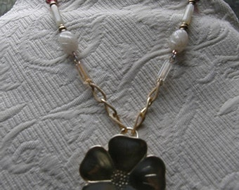 Gold Matte Flower necklace