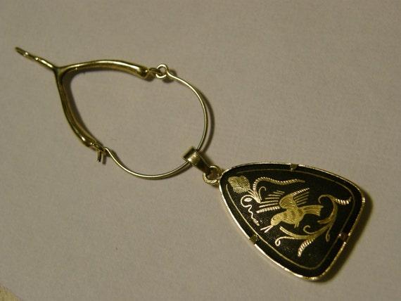Vintage damscene pendant