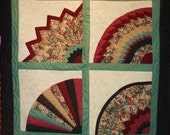 Summer Fans -- Quilted Wall Hanging/Lap Quilt