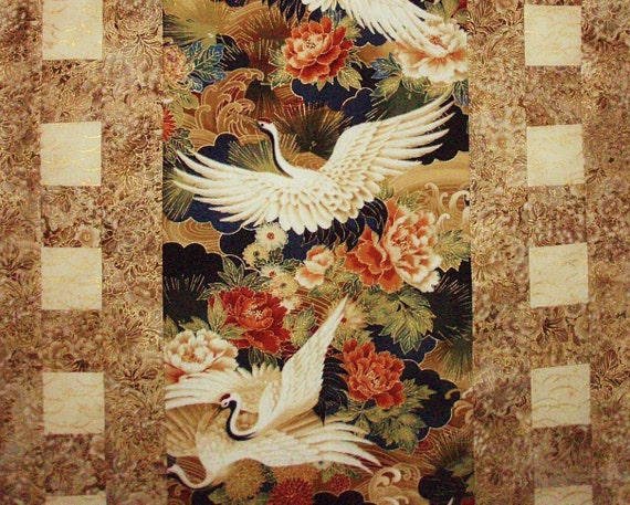 Japanese Cranes - Quilted Table Runner