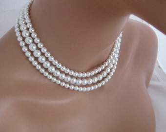 Pearl Necklace Bridal Jewelry Wedding Necklace Pearl Jewelry Bridal Necklace