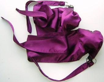 Purple Satin Practice Poi