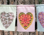 Garden Love (pastel) - 9 large prayer flags - Closeout sale and Free Shipping