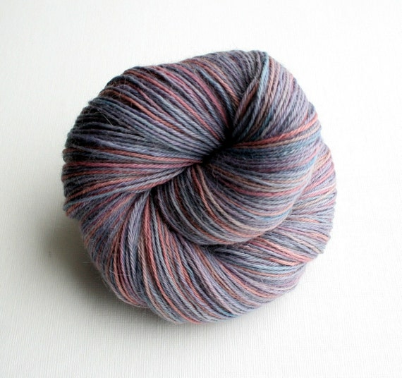 Baby Alpaca Yarn, Hand dyed, 4 ply, fingering weight, 100gm, Lavender and Mauve