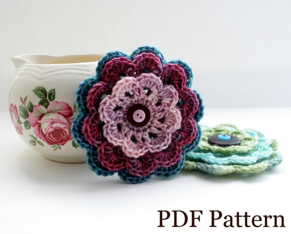 Crochet Snowdrop Flower Pattern Tutorial : Crochet Flower Pattern PDF download DIY tutorial written