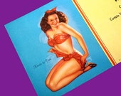 1940s Vintage Follies Pin-Up Blotter - Advertising  by Billy De Vorss - Knots to You Advertising Card - American Stage Equipment
