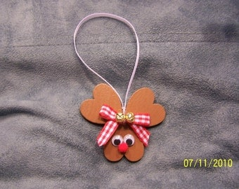 SALE! Heart Reindeer Ornament