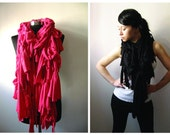 Jersey ruffle scarf RED - Valentine's Day Gift idea