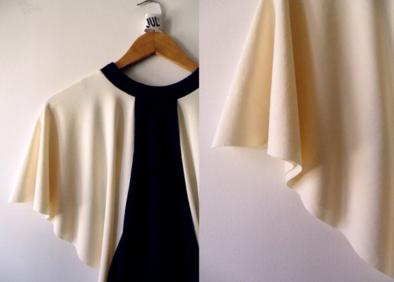 Black cream Bat sleeve Top with Matching camisole - MADE TO ORDER.bat sleeve blouse.loose top.