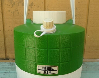 Vintage Gallon Thermos Grass Green Insulated Picnic Jug