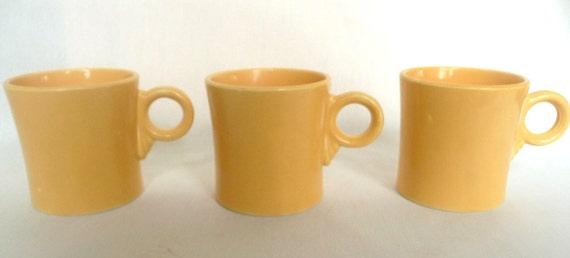 Fiesta Fiestaware Tom and Jerry Mugs Original Yellow Set of Three