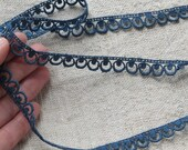 Vintage Tatting Crochet Trim Edging- Blue - 3 yards