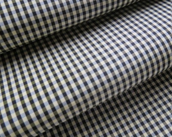 CLEARANCE Vintage Black Yellow Tiny Gingham Satin Fabric OPTICAL ILLUSION