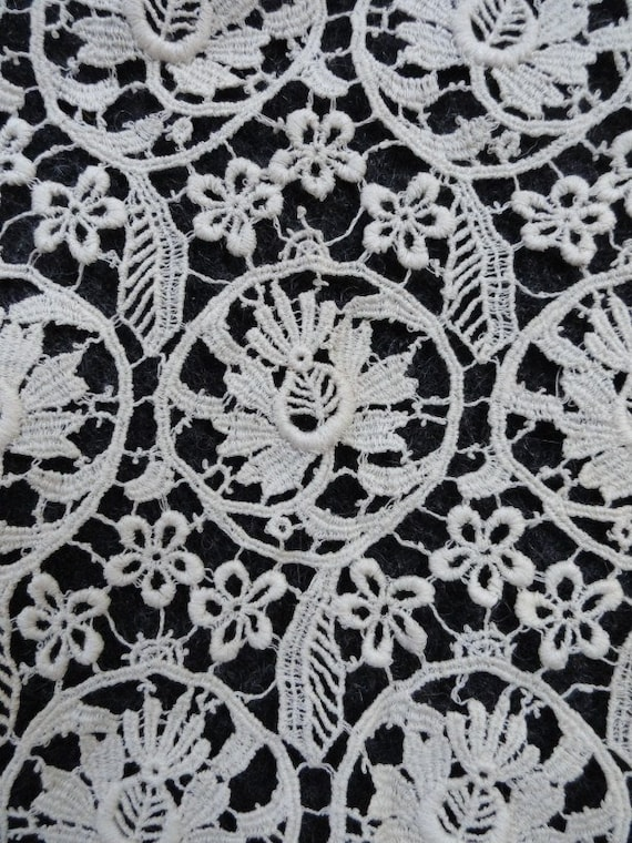 REDUCED Vintage 1920's Floral Chemical Lace Trim Fabric