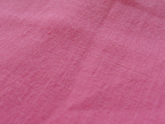 Vintage SOLID Pink Fabric Cotton 2 yards Quilting