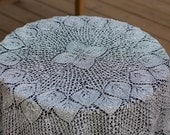 BlacK Friday Etsy  - Cyber Monday Etsy - TABLE CLOTH Free shipping  A lovely handmade silver knitted table cloth