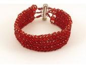 Swarovski Crystal Red Woven Bracelet