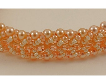 Swarovski Pearl and Crystal Woven Bracelet - 7 inches