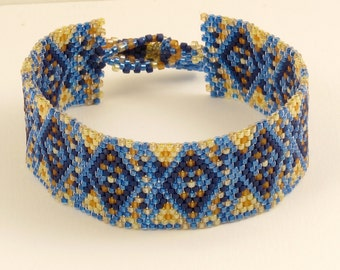 Electric Blue Woven Bracelet - 7.75 inches