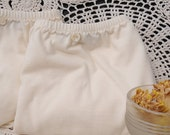 2 Pr Lg  Briefs, Organic Cotton Underwear, Latex Free, Soft and Sweet