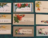 Victorian Calling Cards - Lot 20 - Flowers and Scrolls