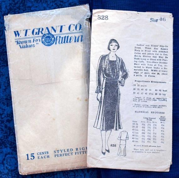 Late 1920s/Early 1930s women's dress pattern - original vellum envelope
