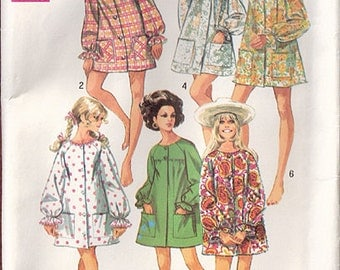 Vintage 60s Simplicity Mini Beach Cover up or Robe Pattern 8276, Small, Partially UC