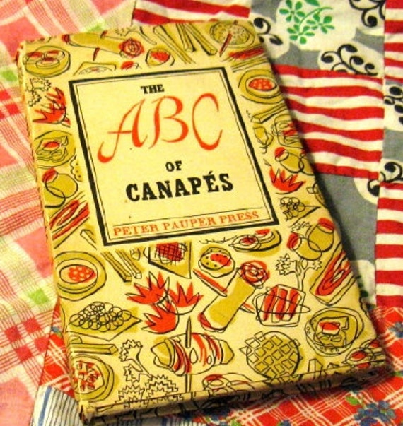 Vtg 50s Cookbook The ABC of Canapes by Peter Pauper Press