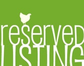 Reserved Listing for Paper Angel