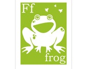 F is for Frog 8x10 inch print by Finny and Zook