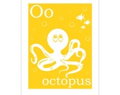 O is for Octopus 8x10 inch print