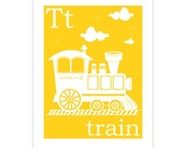 T is for Train 8x10 inch print