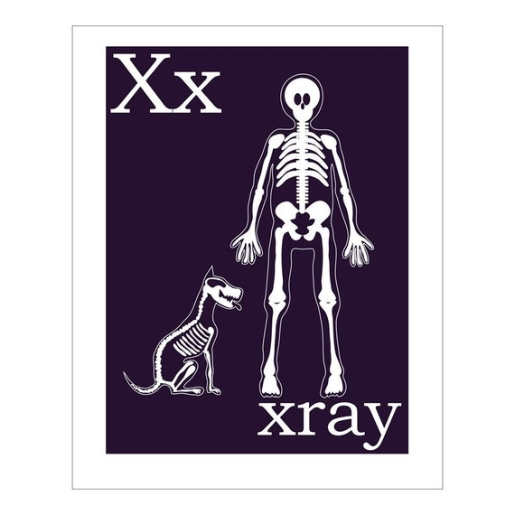Children 39 S Wall Art Nursery Decor X Is For Xray By
