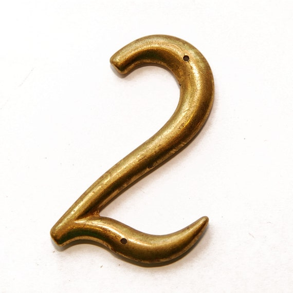 Upcycled Vintage Number Magnet, No. 2, Two