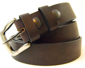 32mm Genuine brown latigo leather belt men women american made 1 1/4 casual dress