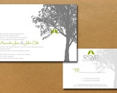 Maple Tree Love Birds Wedding Invitation Set - Sample