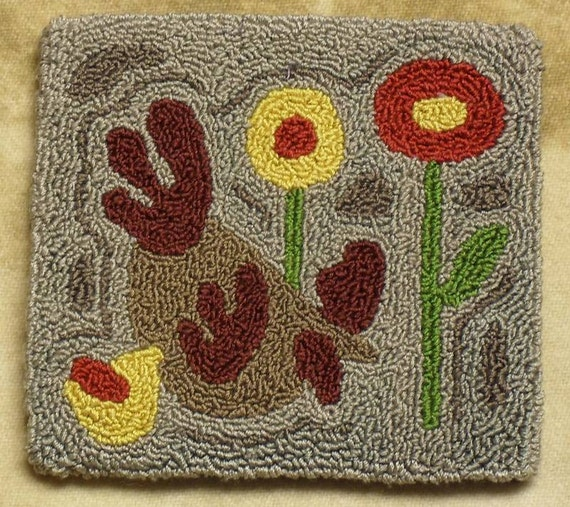 INSTANT DOWNLOAD Pattern Primitive Folk Art Punch Needle
