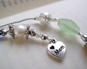 MOM'S KEEPSAKE Bookmark - Beaded Book Thong Personalized with a Birthstone color for EACH child or grandchild