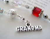 Grandmother Gift Birthstone Bookmark - Custom Beaded Book Thong Personalized with a Bead Color for EACH child and grandchild
