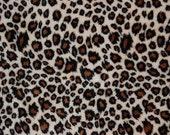 Minky Animal Print Fabric - Cheetah - Brown/Tan
