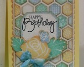 Happy Birthday - Hand-stamped Card